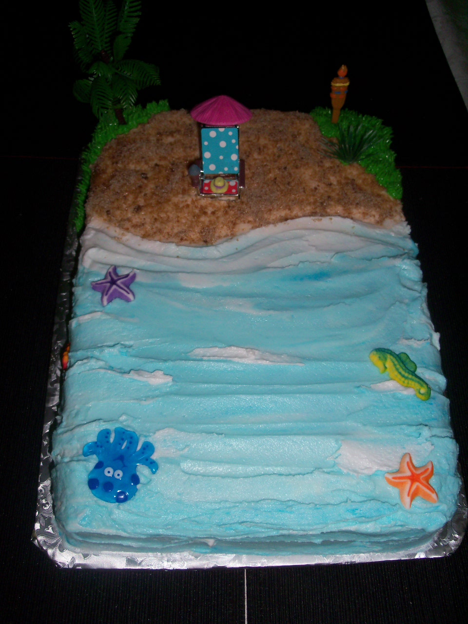 Beach Scene Birthday Cake From Sugarlicious Ltd  LONG HAIRSTYLES